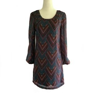 NWT Fire Los Angeles Mini Long Sleeve Boho Dress